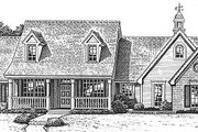 Farmhouse Style House Plan - 3 Beds 2 Baths 2104 Sq/Ft Plan #310-610 Exterior - Front Elevation