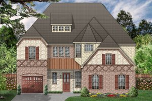 House Plan Design - European Exterior - Front Elevation Plan #84-466