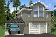 Traditional Style House Plan - 1 Beds 1 Baths 833 Sq/Ft Plan #126-164 Exterior - Front Elevation