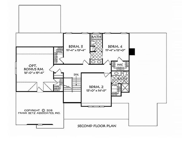 House Design - Farmhouse Floor Plan - Upper Floor Plan #927-987