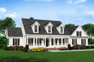 Country Exterior - Front Elevation Plan #929-357