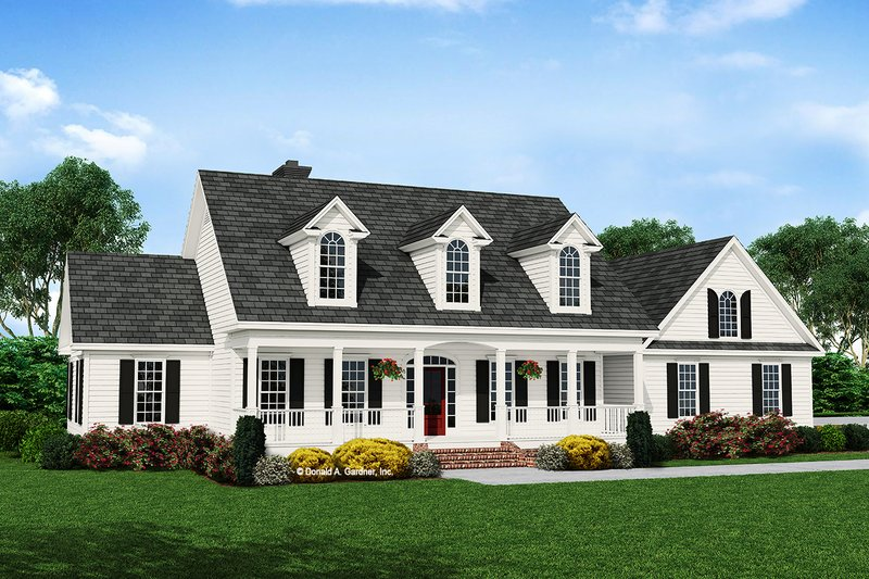 Architectural House Design - Country Exterior - Front Elevation Plan #929-357