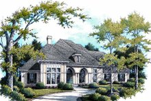 Southern Exterior - Front Elevation Plan #45-330