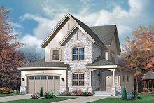 Home Plan - European Exterior - Front Elevation Plan #23-398
