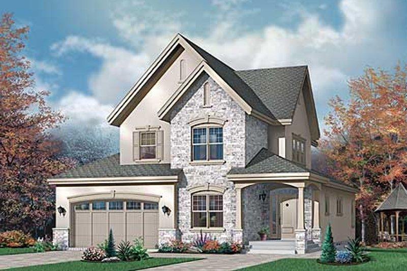 Dream House Plan - European Exterior - Front Elevation Plan #23-398