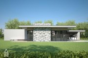 Modern Style House Plan - 3 Beds 2 Baths 1716 Sq/Ft Plan #552-4 Exterior - Other Elevation