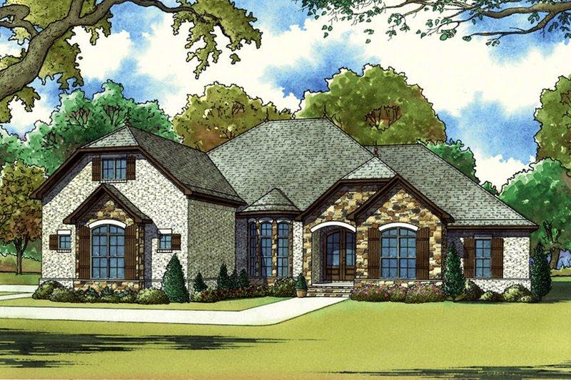 Architectural House Design - European Exterior - Front Elevation Plan #923-60