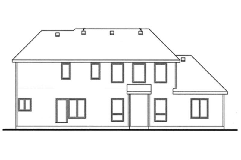Traditional Exterior - Rear Elevation Plan #20-2126 - Houseplans.com