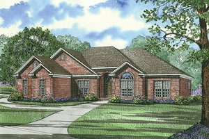 Traditional Exterior - Front Elevation Plan #17-1040