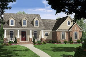 Traditional Exterior - Front Elevation Plan #21-221