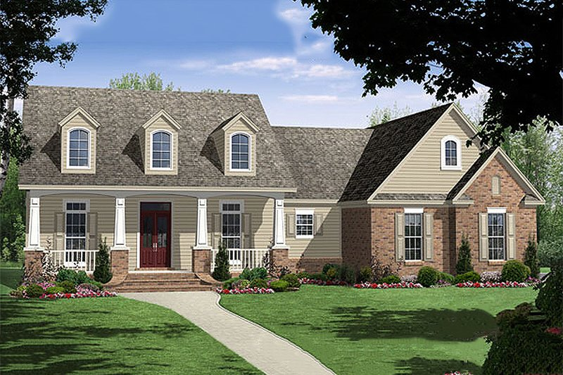 Traditional Style House Plan - 3 Beds 2 Baths 1816 Sq/Ft Plan #21-221