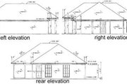 Southern Style House Plan - 2 Beds 1 Baths 1007 Sq/Ft Plan #36-102 Exterior - Rear Elevation