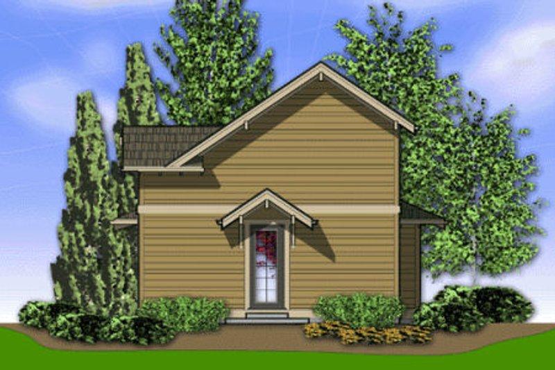 Craftsman Exterior - Rear Elevation Plan #48-370 - Houseplans.com