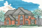 Traditional Style House Plan - 4 Beds 3.5 Baths 4000 Sq/Ft Plan #136-104