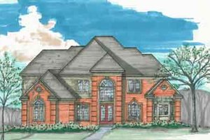 Traditional Exterior - Front Elevation Plan #136-104