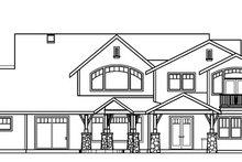 Dream House Plan - Craftsman Exterior - Rear Elevation Plan #124-723