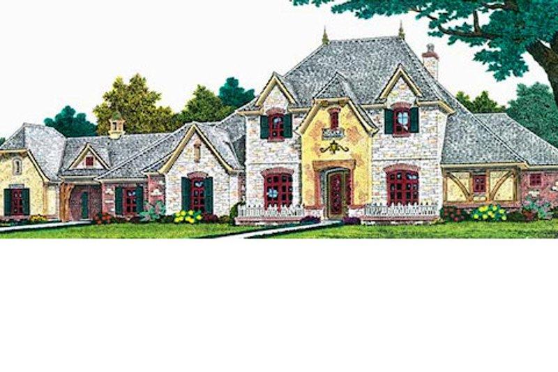 European Exterior - Front Elevation Plan #310-700 - Houseplans.com