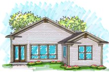 Ranch Exterior - Rear Elevation Plan #70-1025