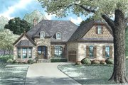 European Style House Plan - 3 Beds 2 Baths 2147 Sq/Ft Plan #17-2508 Exterior - Front Elevation
