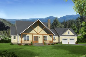 Country Exterior - Front Elevation Plan #932-146