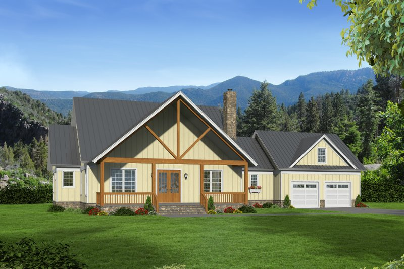 Architectural House Design - Country Exterior - Front Elevation Plan #932-146