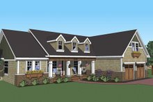 Dream House Plan - Craftsman country style house elevation