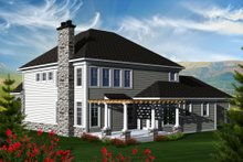 Dream House Plan - Traditional Exterior - Rear Elevation Plan #70-1143