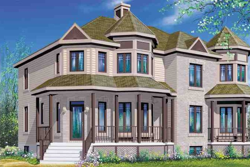 Victorian Style House Plan - 3 Beds 1.5 Baths 2863 Sq/Ft Plan #25-4229 Exterior - Front Elevation