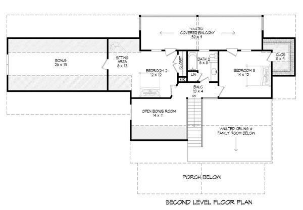 House Blueprint - Country Floor Plan - Upper Floor Plan #932-360