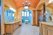 Mediterranean Interior - Master Bathroom Plan #80-199