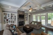 Country Style House Plan - 4 Beds 3 Baths 2304 Sq/Ft Plan #929-610 Interior - Family Room
