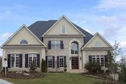European Style House Plan - 4 Beds 3.5 Baths 4579 Sq/Ft Plan #119-360 Exterior - Front Elevation