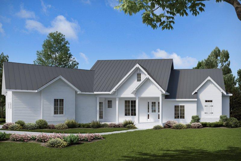 Architectural House Design - Farmhouse Exterior - Front Elevation Plan #54-383