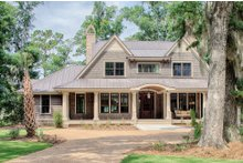 Low Country house plan, front elevation