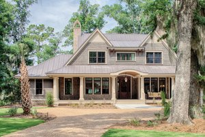 House Plan Design - Low Country house plan, front elevation