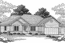 Dream House Plan - Traditional Exterior - Front Elevation Plan #70-177