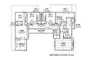 European Style House Plan - 5 Beds 5 Baths 5159 Sq/Ft Plan #449-22 Floor Plan - Upper Floor Plan