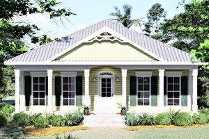Southern Exterior - Front Elevation Plan #44-151