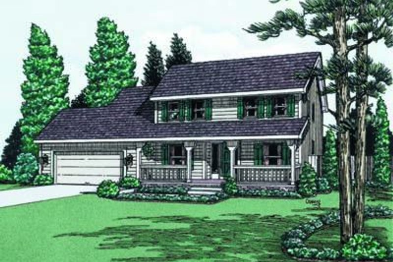 Colonial Exterior - Front Elevation Plan #20-664 - Houseplans.com