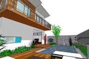 Modern Style House Plan - 3 Beds 3.5 Baths 1990 Sq/Ft Plan #484-1 Exterior - Rear Elevation