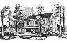 Colonial Exterior - Rear Elevation Plan #72-353