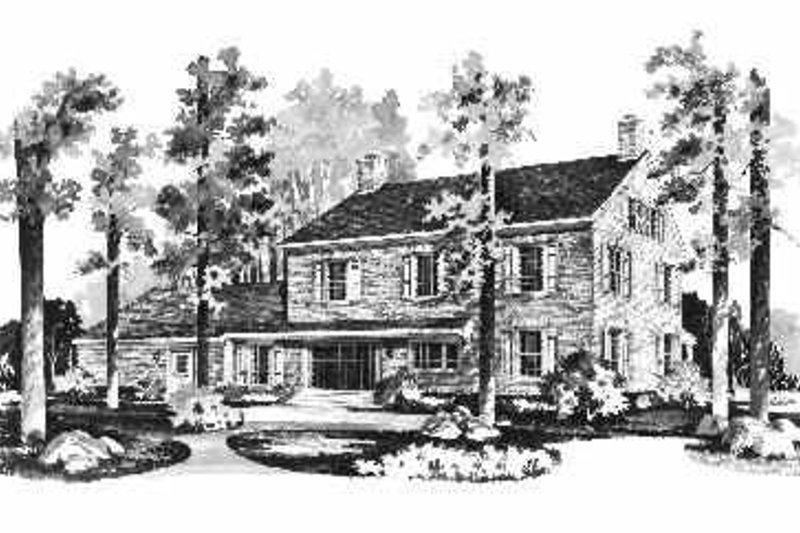 Colonial Exterior - Rear Elevation Plan #72-353 - Houseplans.com