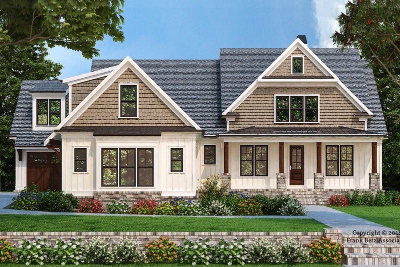 Farmhouse Style House Plan - 4 Beds 3.5 Baths 2594 Sq/Ft Plan #927-994