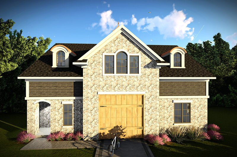 House Plan Design - European Exterior - Front Elevation Plan #70-1451