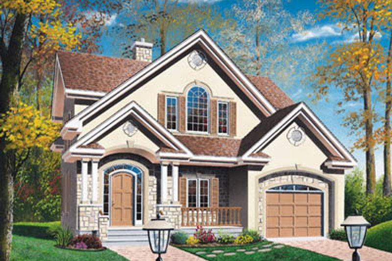 European Exterior - Front Elevation Plan #23-229 - Houseplans.com