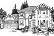 Mediterranean Style House Plan - 3 Beds 3.5 Baths 2298 Sq/Ft Plan #47-373 Exterior - Front Elevation