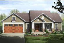 Home Plan - Craftsman Exterior - Front Elevation Plan #21-344