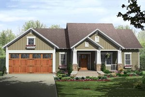 Craftsman Exterior - Front Elevation Plan #21-344