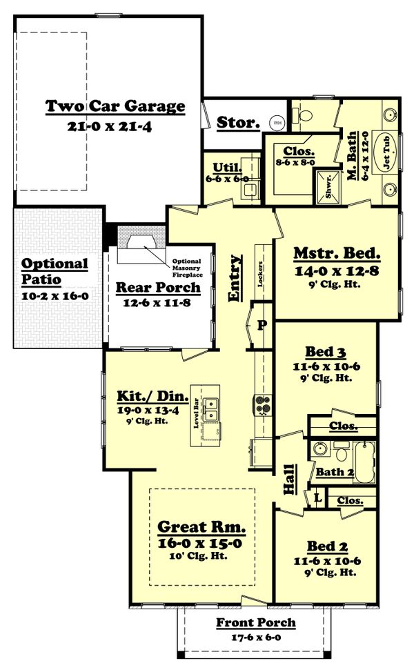 Cottage Floor Plan - Main Floor Plan Plan #430-106