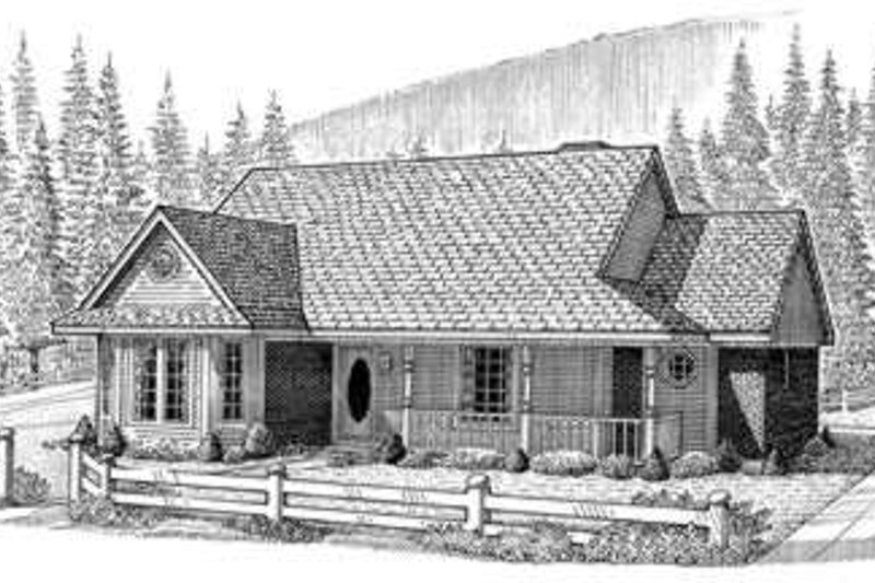 Country Exterior - Front Elevation Plan #410-224